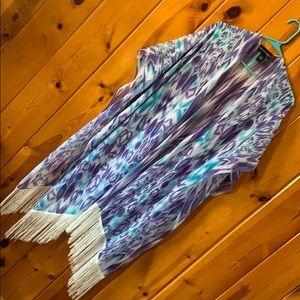 Purple and Blue Fringe Shall